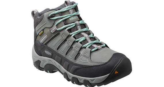 Keen Oakridge Mid Polar WP Shoes Women Moon Mist/Desert Sage